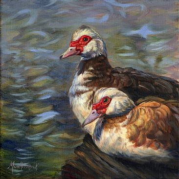 Muscovy Pair - Musovy Ducks by Dianne Munkittrick