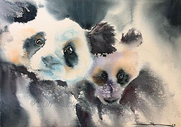 Panda'd Two - Giant Pandas30 by Sandi Lear